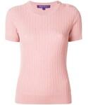 Ralph Lauren「Ralph Lauren - ショートスリーブ リブニット - women - メリノウール/シルク - M(Knitwear)」