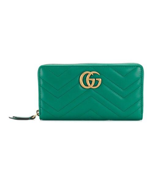 online retailer 92492 d5dca Gucci(グッチ)の「Gucci - Ggマーモント 長財布 - women ...