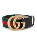 Gucci「Gucci - ダブルg ウェブベルト - women - コットン/レザー - 90(Belt)」
