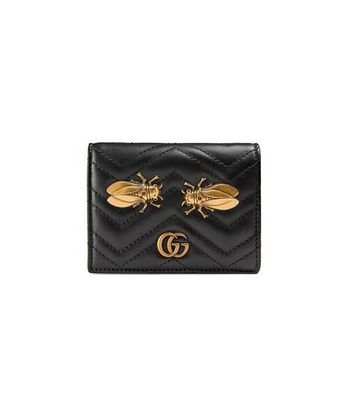 c4a5f57bf419 Gucci(グッチ)の「Gucci - Ggマーモント 二つ折り財布 - women - レザー - ワンサイズ(財布)」 - WEAR
