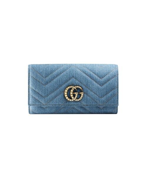 73d9f9ba9770 「Gucci - Ggマーモント デニム 長財布 - women - コットン - ワンサイズ」