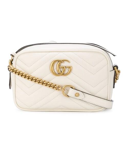 5c8cef01433d Gucci(グッチ)の「Gucci - Ggマーモント クロスボディバッグ - women - レザー - ワンサイズ(ショルダーバッグ)」 -  WEAR