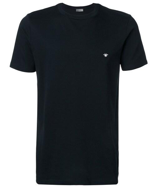 b5de2586 Dior Homme,Dior Homme - logo embroidered T-shirt - men - コットン - L