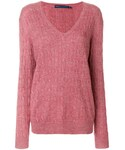 Ralph Lauren「Ralph Lauren - ケーブルニット セーター - women - リネン/アルパカ - L(Knitwear)」