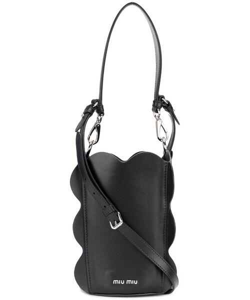 0ea136f1b7f9 「Miu Miu - スカラップショルダーバッグ - women - カーフレザー - ワンサイズ」