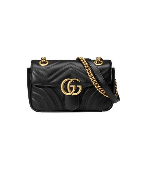 c4839972a0f0 Gucci(グッチ)の「Gucci - GG マーモント ショルダーバッグ ミニ - women - カーフレザー - ワンサイズ(ショルダーバッグ)」  - WEAR