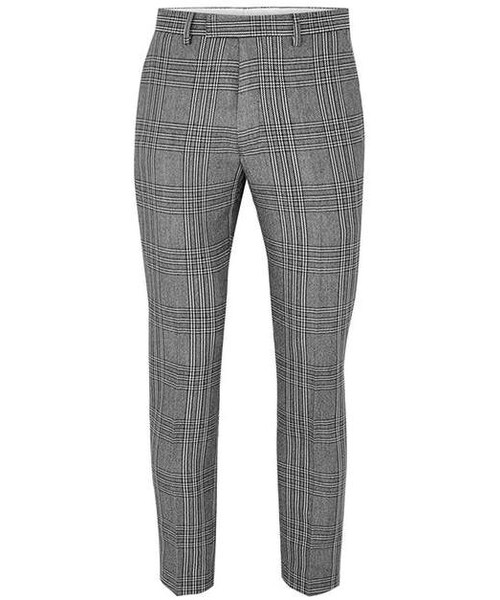 3233a5e8d1c4 Topman,Light Grey Check Skinny Crop Pants - WEAR