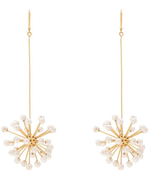 Elleryellery dr mom pendant drop gold plated earrings ellery dr mom pendant drop gold plated earrings mozeypictures Gallery