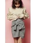CHEER CLOSET(チアクローゼット)の「【前田希美】ハウンドツースパターン台形スカート(スカート)」