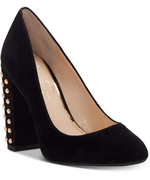5d45ec0576 Jessica Simpson,Jessica Simpson Bainer Block-Heel Pumps Women's Shoes - WEAR