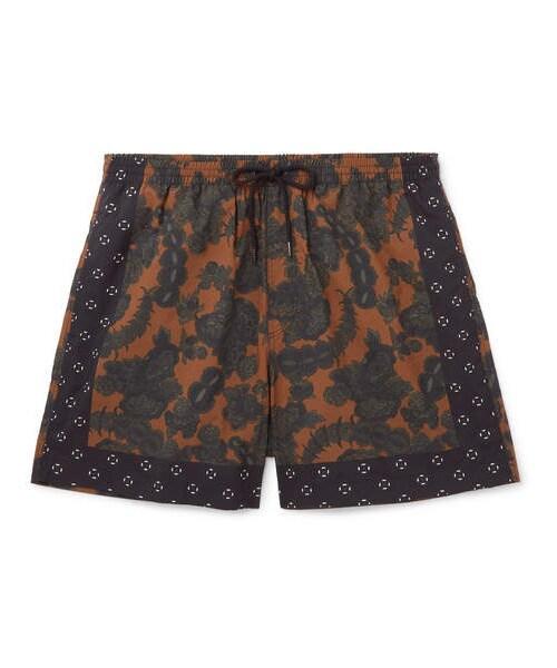 a5f80eed28 「Dries Van Noten Short-Length Floral-Print Swim Shorts」