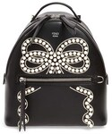 Fendi「Fendi Mini Imitation Pearl Bow Leather Backpack(Backpack)」