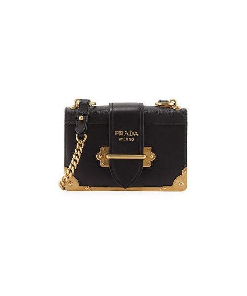 1c025299f8a2 Prada,Prada Cahier Small Leather Trunk Crossbody Bag - WEAR
