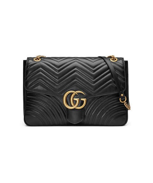 c6924d7159da Gucci,Gucci GG Marmont Large Chevron Quilted Leather Shoulder Bag - WEAR
