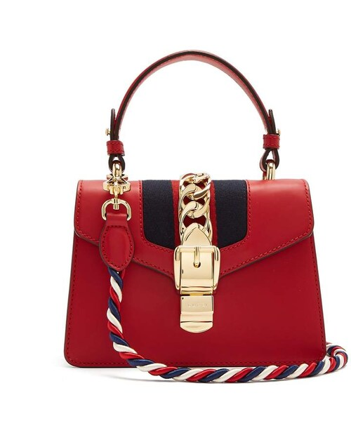 67e6a7d8f3dc09 Gucci,GUCCI Sylvie mini leather shoulder bag - WEAR