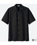 """ユニクロ Shirts """"オープンカラーシャツ(半袖)"""""""