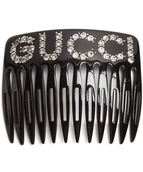 14d03890ba4 Gucci,GUCCI Crystal-embellished logo-motif hair comb - WEAR