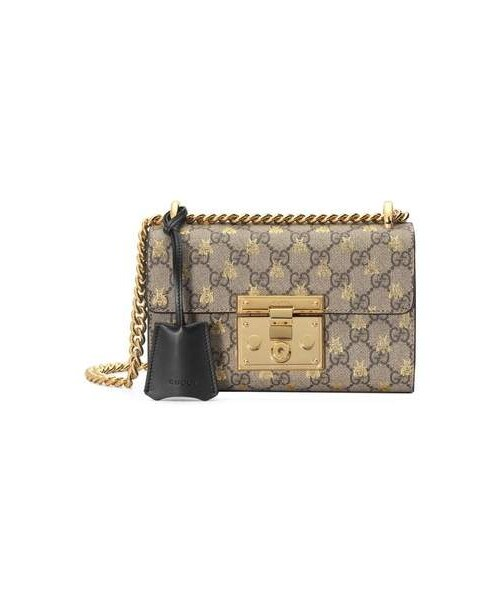 08c349271ce316 Gucci,Gucci Small Padlock GG Supreme Bee Shoulder Bag - WEAR
