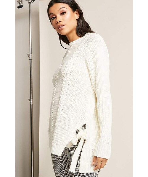 Forever 21forever 21 Cable Knit Self Tie Top Wear
