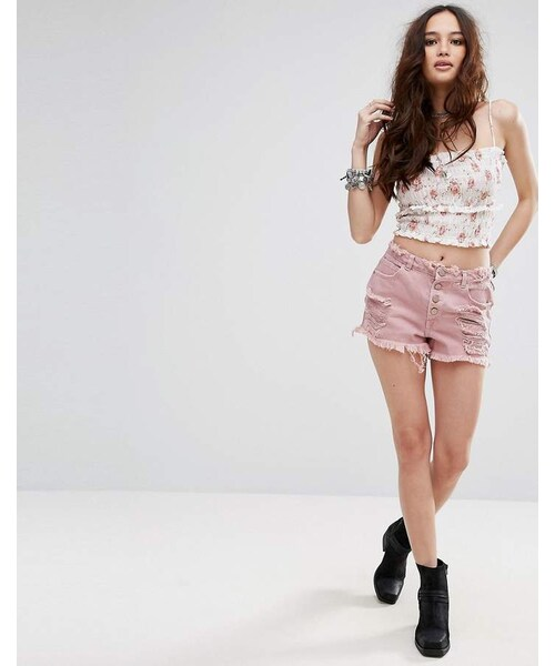 565c87ad2f Missguided,Missguided Sinner High Waisted Distressed Denim Shorts - WEAR