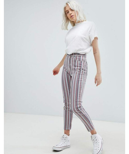 Straight Pull pull amp;bear Wear Leg amp;bear Stripe Jeans iXPZuk