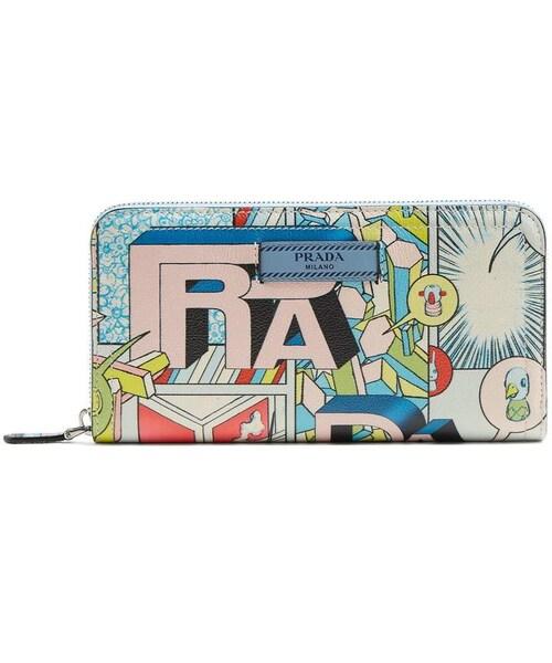 6a666a390eff22 Prada,PRADA Comic-strip print leather wallet - WEAR