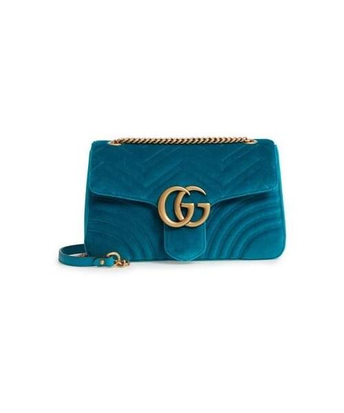 e9e4b2d1420b7f Gucci,Gucci Medium GG Marmont 2.0 Matelasse Velvet Shoulder Bag - WEAR