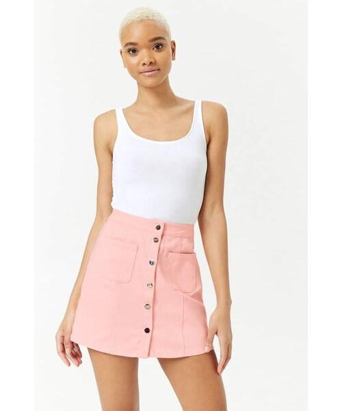 9608a35d Forever 21,Forever 21 Button-Down Denim Mini Skirt - WEAR