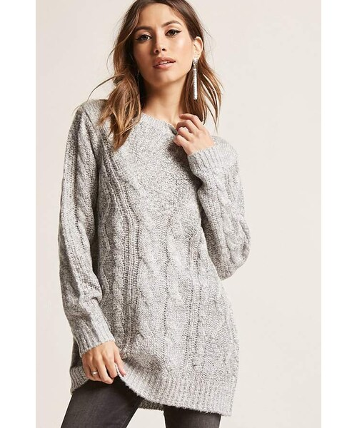 Forever 21forever 21 Marled Cable Knit Sweater Wear