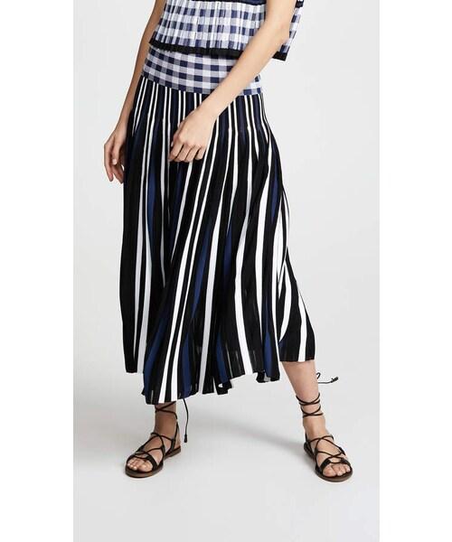 904602827a Sonia Rykiel,Sonia Rykiel Plaid Pleated Midi Skirt - WEAR