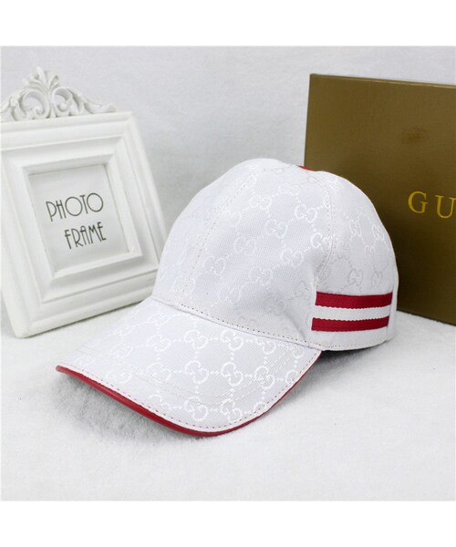 sneakers for cheap 6cbd9 a0588 GUCCI(グッチ)の「グッチ GUCCI キャップ GG キャンバスベース ...