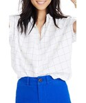 "Madewell Shirts ""Madewell Central Windowpane Tie Sleeve Shirt"""