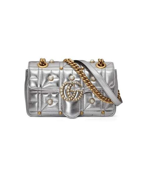 cf262939c Gucci,Gucci Mini GG Marmont 2.0 Imitation Pearl Logo Matelasse Leather  Shoulder Bag - WEAR