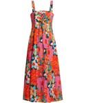 "Mara Hoffman One piece dress ""MARA HOFFMAN Mei abstract floral-print lace-up dress"""