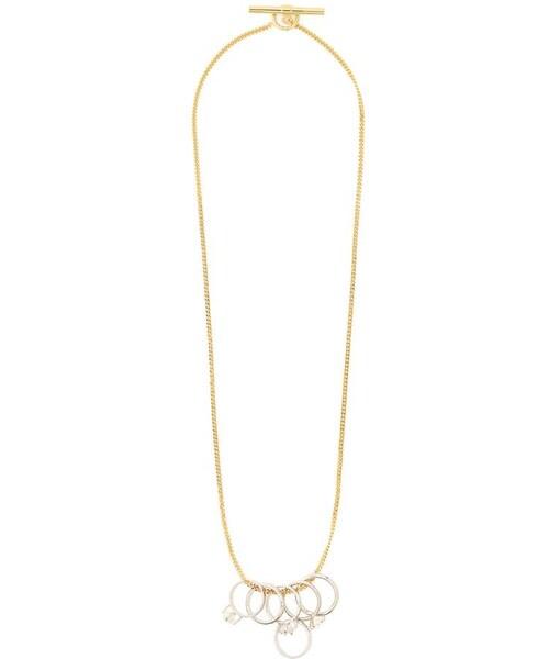 Jil sanderjil sander crystal embellished ring jil sander crystal embellished ring pendant necklace mozeypictures Choice Image
