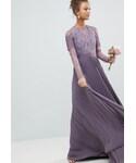 "asos One piece dress ""エイソス ASOS Bridesmaid Long Sleeve Lace Pleated Midi Dress レース マキシワンピース ワンピース"""