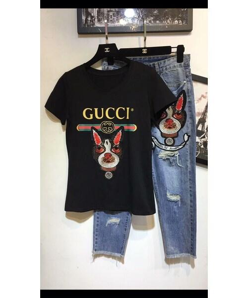 sale retailer cd0e4 73303 GUCCI(グッチ)の「グッチ GUCCI base tee 半袖 tシャツ メンズ ...