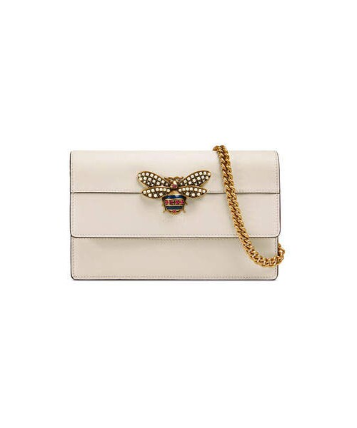 e268bb541ab Gucci,Gucci Queen Margaret Leather Bee Wallet On Chain Bag - WEAR