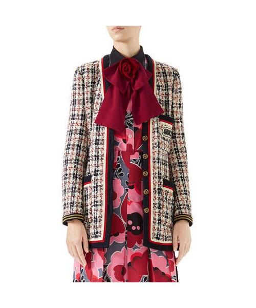 quality design cbd3e e8897 Gucci(グッチ)の「Gucci 6-Button Single-Breasted Tweed ...