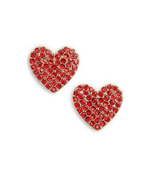 077ae473c2638 Kate Spade,Kate Spade New York Yours Truly Pave Heart Stud Earrings ...