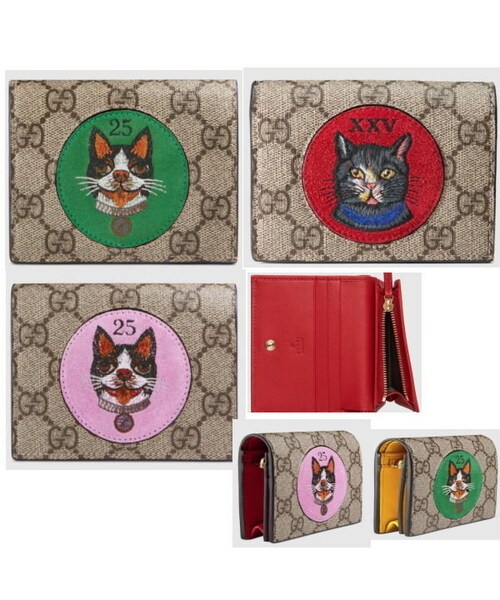 finest selection 245a6 a3d09 GUCCI(グッチ)の「【GUCCI ギフトOK】猫・犬モチーフ ...