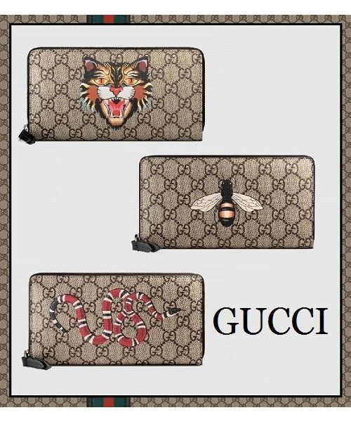 competitive price 43ca6 320b5 GUCCI(グッチ)の「【即発】GUCCI メンズ長財布【国内発 ...