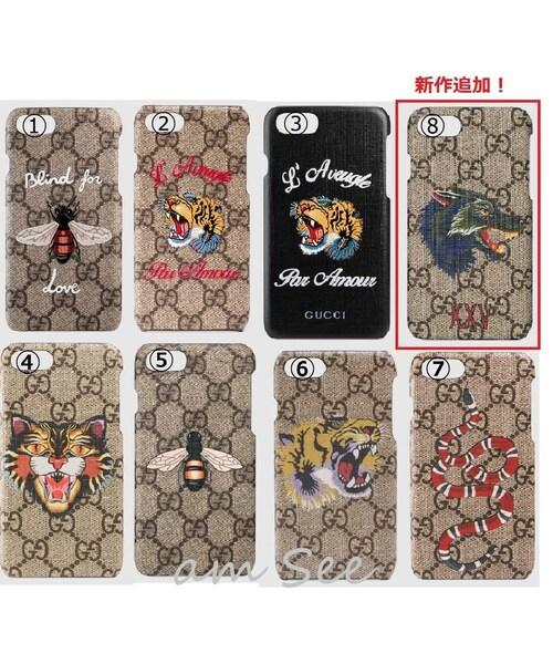 newest 8816d e56d1 GUCCI(グッチ)の「【GUCCI】GG iPhone7 カバーケース 8種 ハチ ...