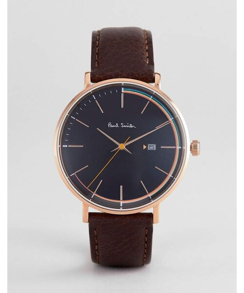 a95c756db7 Paul Smith(ポールスミス)の「Paul Smith PS0070008 Track Leather Watch In Black 42mm( 腕時計)」 - WEAR
