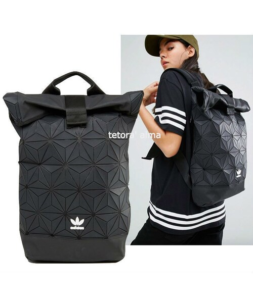 check out cf44d eacb9 GUCCI(グッチ)の「adidas ジオメトリック ロールトップ バック ...