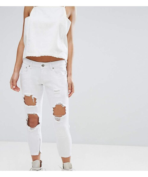 f95b06540a3 N.,Liquor N Poker Petite Liquor & Poker Petite Skinny Jeans With Extreme  Distressing Ripped Knees - WEAR