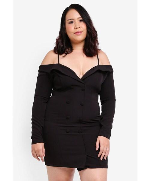 MISSGUIDED,Plus Size Tuxedo Dress - WEAR