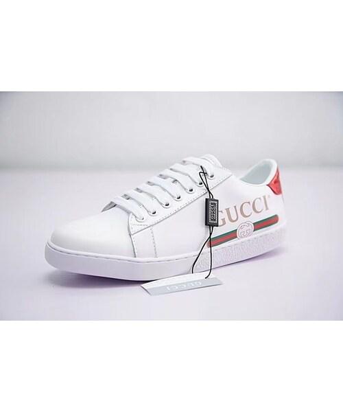 sale retailer 19729 35476 GUCCI(グッチ)の「GUCCI グッチ スニーカー 運動靴 メンズ ...