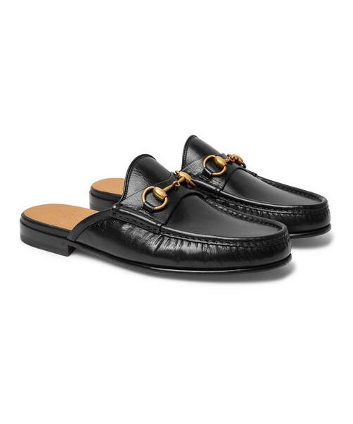 d86ffb018 Gucci,Gucci Open Roos Horsebit Leather Backless Loafers - WEAR