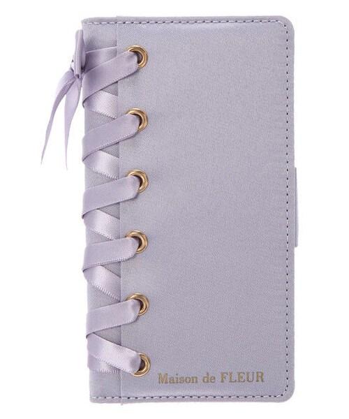 16d551a799d7 Maison de FLEUR(メゾンドフルール)の「ブランドロゴレースアップiPhoneXケース(財布/小物)」 - WEAR